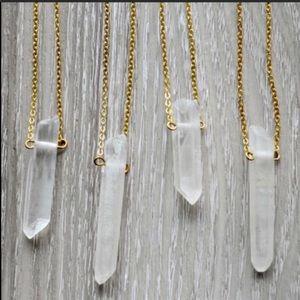 🖤 geode gem necklace